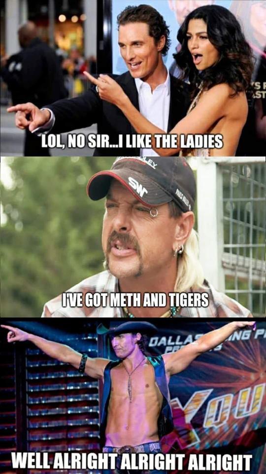tiger king meme alright alright alright