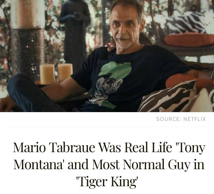 tiger king meme Mario Tabraue Tony Montana