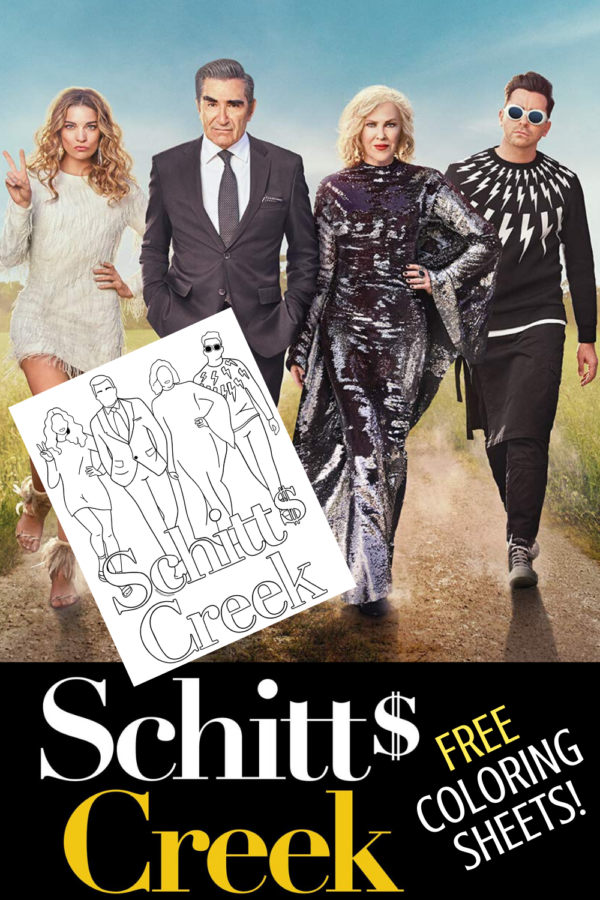 free schitts creek coloring sheets