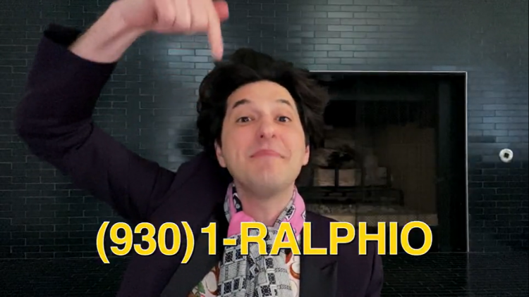 jean ralphio phone number from Parks and Rec special on NBC