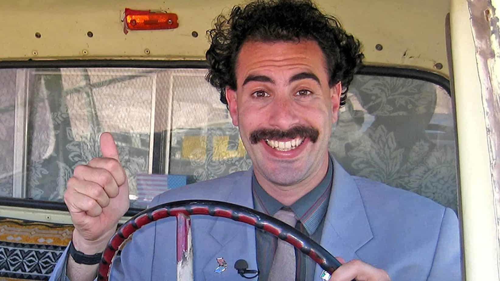 borat 2 movie quotes thumbs up in car