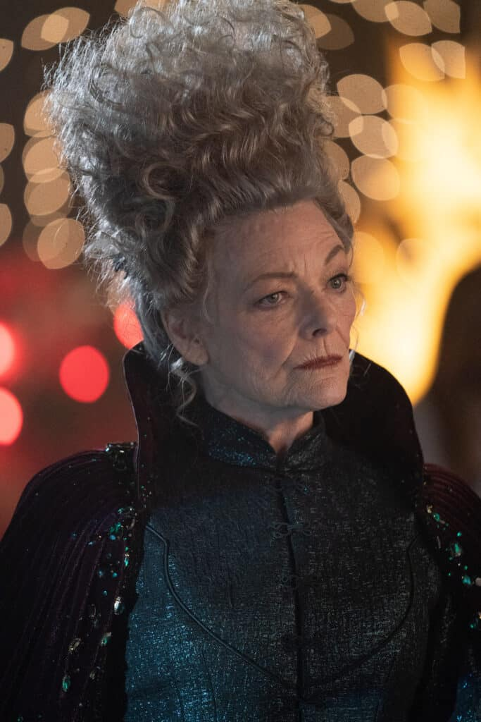 Jane Curtin as Moira in GODMOTHERED safe for kids parent movie review