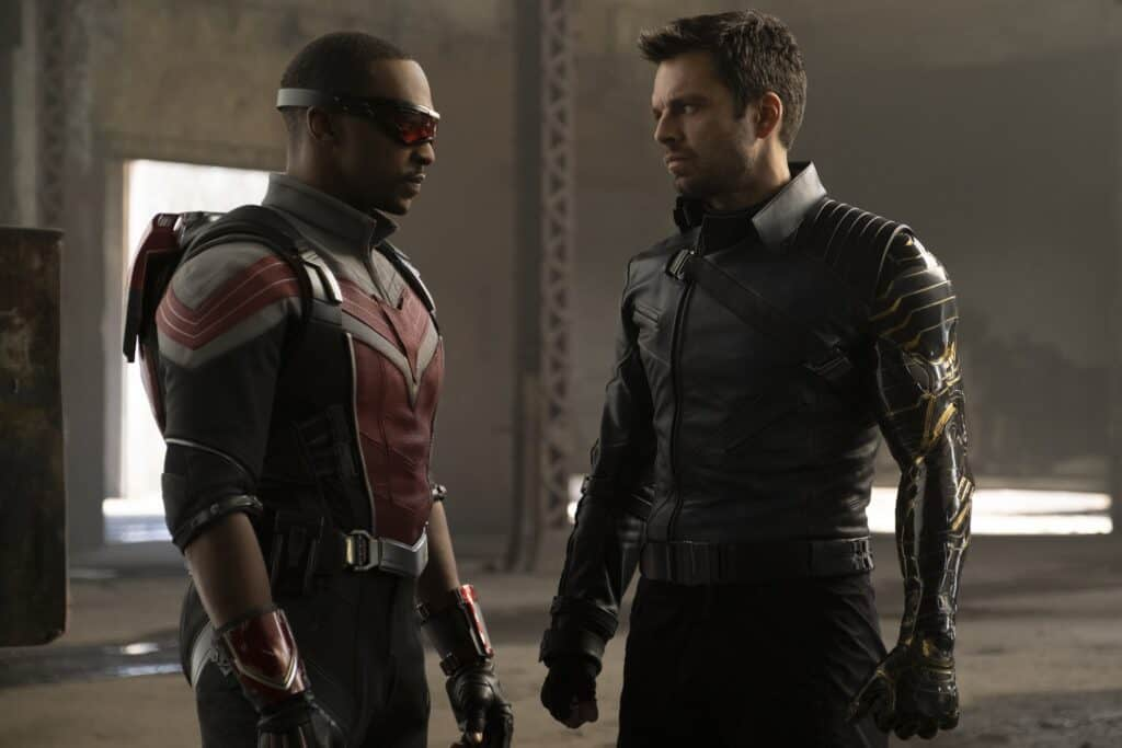 is falcon and the winter soldier safe for kids? sam and bucky in costumes