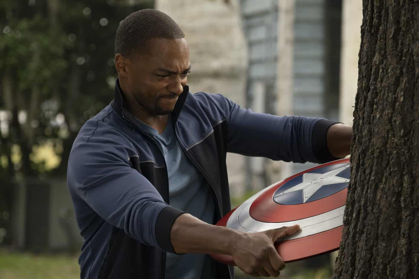 is falcon and the winter soldier ok for kids same pulls shield from tree