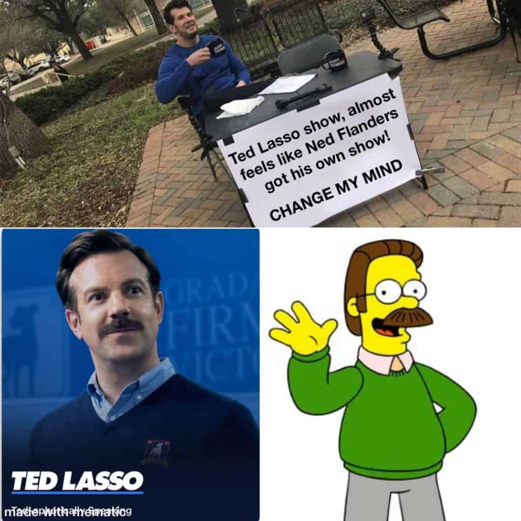 ted lasso memes ned flanders